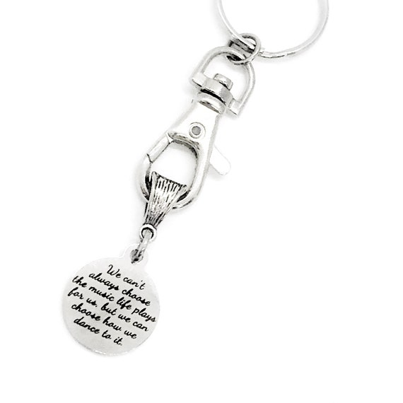 Sympathy Gift, We Can't Always Choose The Music Life Plays But We Can Choose How We Dance To It, Encouraging Gift, Engraved Charm