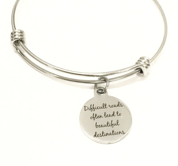 Sympathy Gift, Sympathy Jewelry, Difficult Roads Bracelet, Tough Times Gift, Sympathy Bracelet, Motivating Jewelry Gift, Encouraging Gift