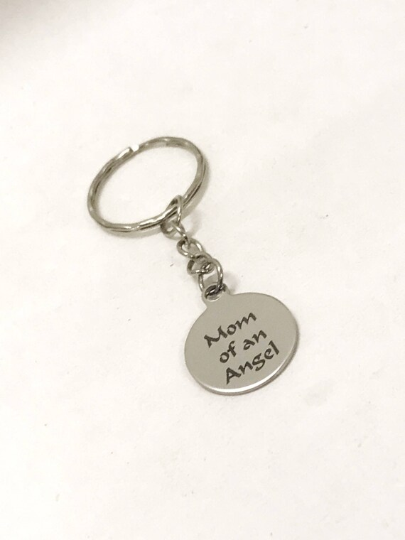 Miscarriage Gifts, Mom Of An Angel Keychain, Miscarriage Sympathy Gifts, Angel Mom Gifts, Miscarriage Memorial, Remember My Child In Heaven