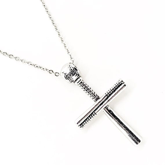 Softball Bat Cross Necklace, Softball Necklace, Cross Necklace,  Softball Gift, Softball Player Gift, Softball Daughter, Christmas Gift