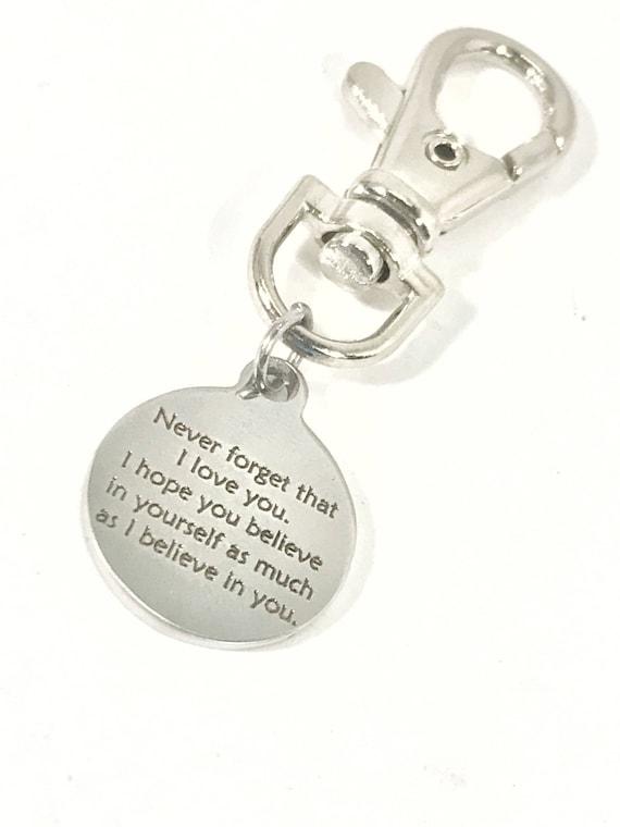 Encouragement Gift, I Believe In You Baseball Bag Zipper Pull, Son Gift, Softball Bag Zipper Pull, Daughter Gift, Bag Zipper Pull