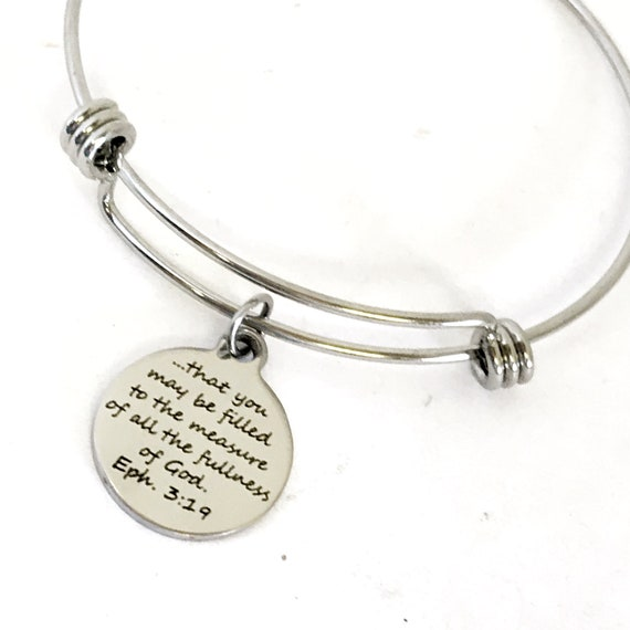 Christian Gift, That You May Be Filled To The Measure Of All The Fullness Of God Bracelet Gift, Ephesians 3 19 Gift, Christian Bracelet