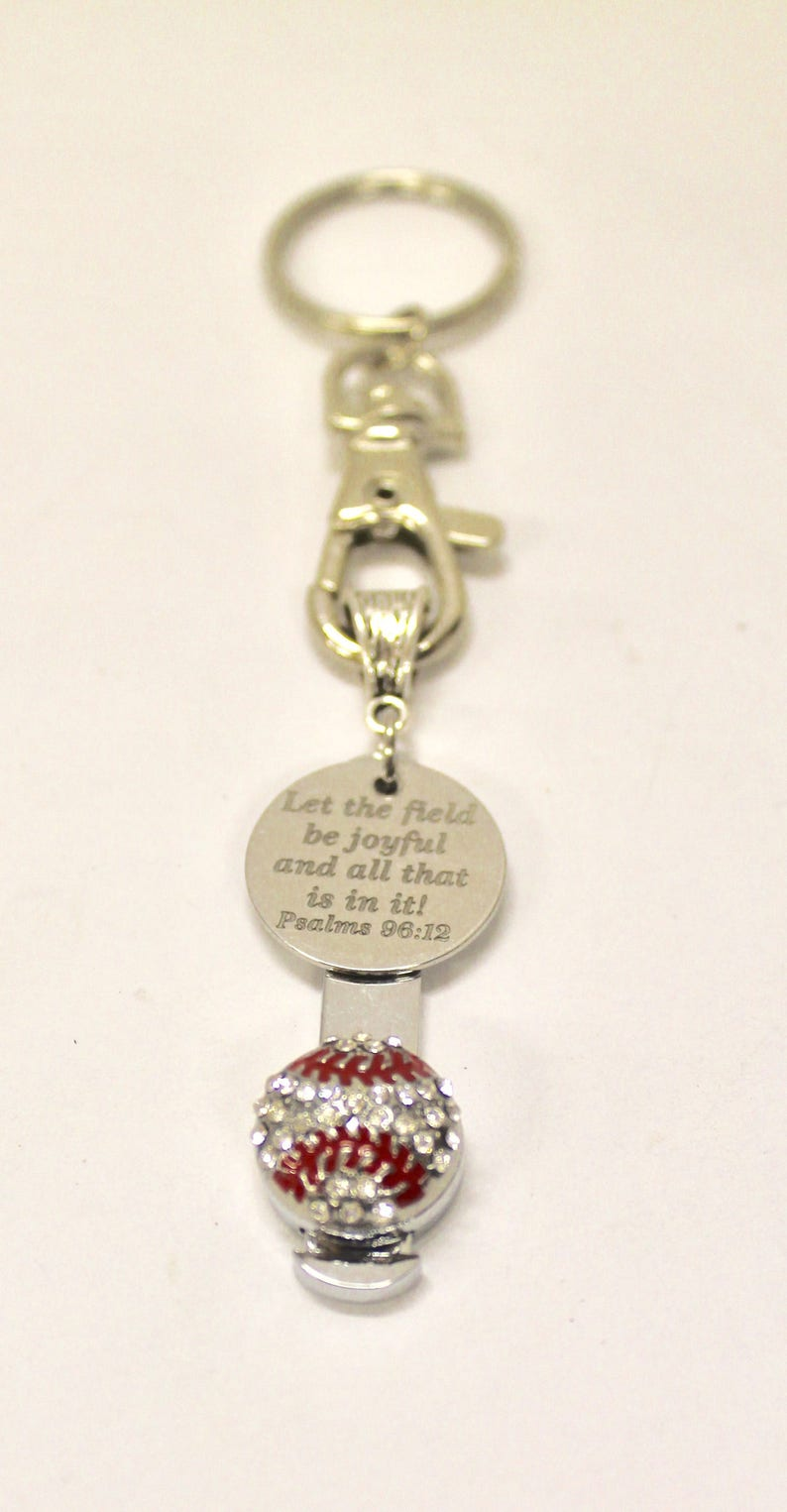 Gift For Her Keyring Gift Wife Jewelry Gift Baseball Bible Verse Keychain Psalms 29 12 Bible Verse Gift Gift for Mom Baseball Mom Gift