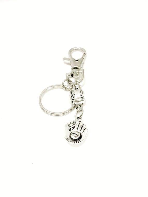 Baseball Bag Charm, Baseball Purse Charm Key Ring, Baseball Mom Gift, Bag Charm Keychain, Purse Charm, Baseball Bag Zipper Pull