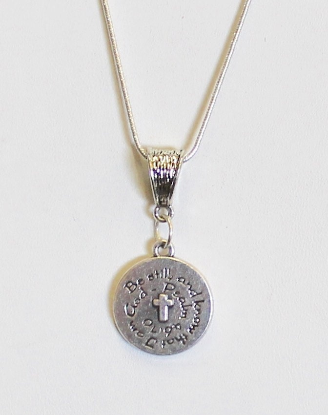 With God All Things Are Possible Pendant on Silver Chain, Matthew