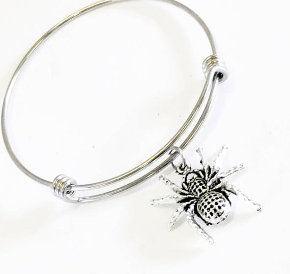 Spider Jewelry, Spider Stacking Bangle, Spider Bracelet, Halloween Jewelry, Spider Gifts, Halloween Party Gifts, Halloween Gifts For Her