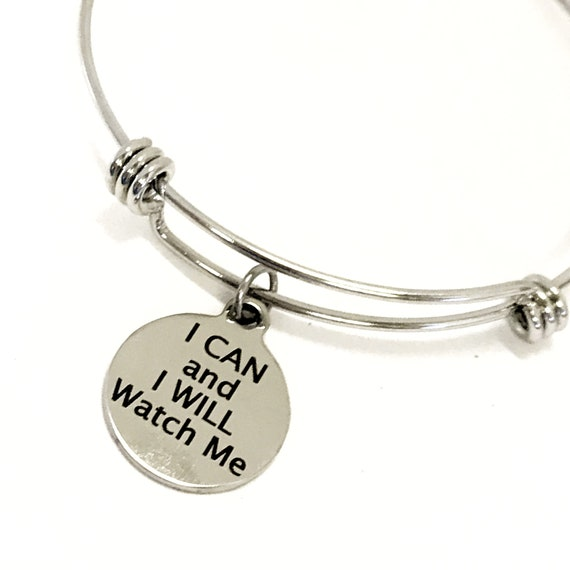 Motivating Gift, I Can And I Will Watch Me Bracelet, Daughter Gift, Motivating Quote, Motivating Success, Entrepreneur Gift, Boss Woman Gift