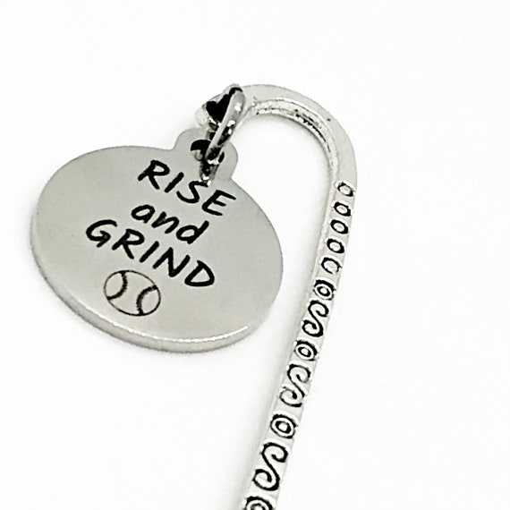 Bookmark Gift, Rise And Grind Bookmark, Softball Bookmark, Student Athlete Gift, Softball Player Gift, Softball Charm Bookmark