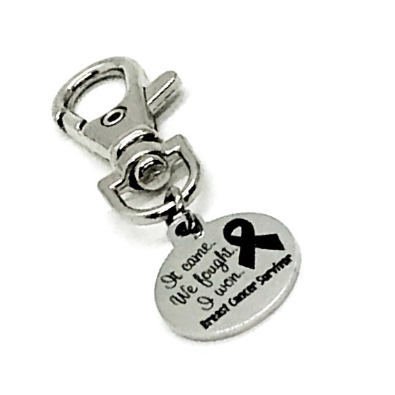 Cancer Survivor Gift, It Came, We Fought, I Won, Breast Cancer Survivor Charm, Cancer Survivor Keychain Clip, Purse Charm, Bag Charm