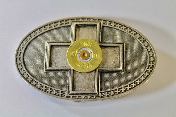Silvertone Shotgun Shell Cross Belt Buckle, Southwestern Style, Gift For Her, Girlfriend Gift, Valentines Day Gift, Valentine Gift; Country