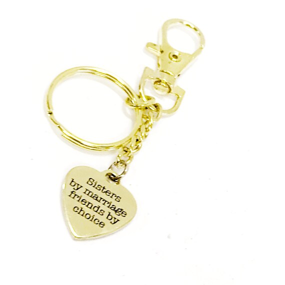 Sister In Law Gift, Stepsister Gift, Sisters By Marriage Friends By Choice, Stepsister Keychain, Sister In Law Keychain, Sister In Love Gift