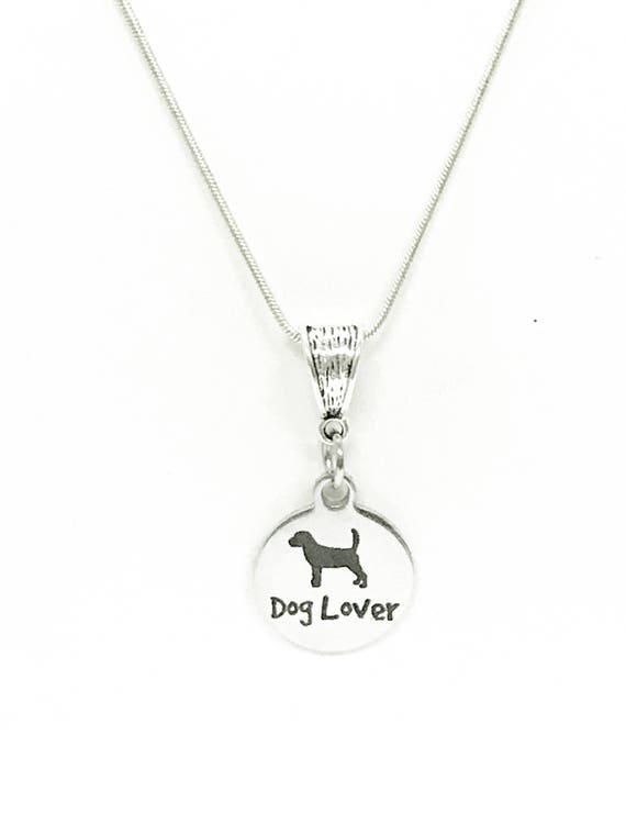 Dog Lover Pendant Silver Necklace, Dog Mom Gift, Gift For Her, New Dog Owner Gift, Gift For Dog Mom, Pet Lover Gift Necklace, New Dog Mom