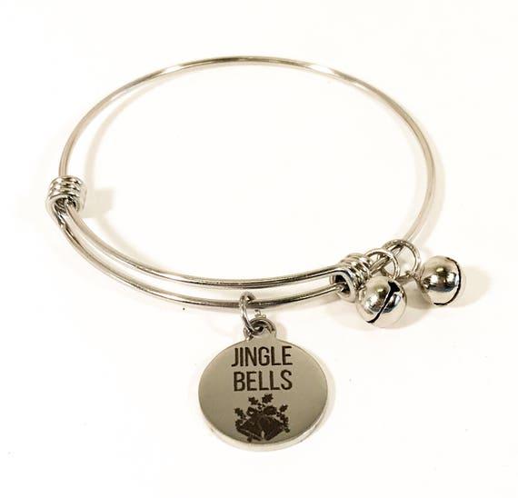 Jingle Bells Bracelet, Jingle Bells Jewelry, Christmas Bracelet, Christmas Jewelry, Stacking Bangle, Stacking Bracelet, Christmas Outfit