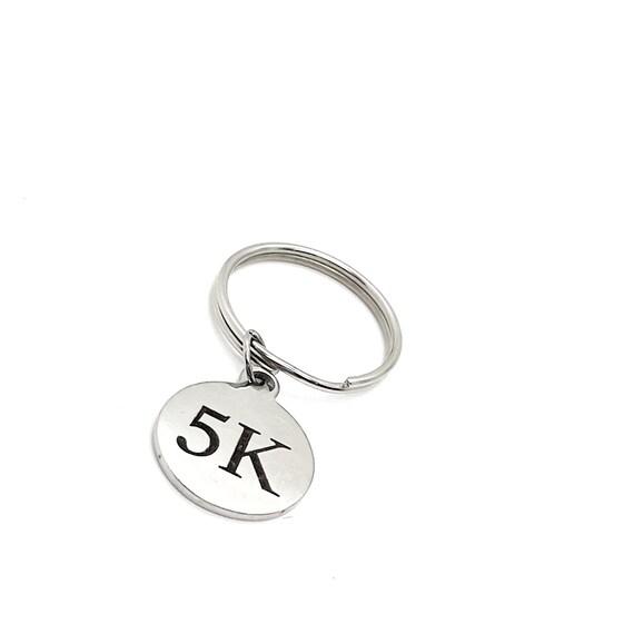 Runner Gift, 5K Keychain, Marathon Runner, Marathon Gift, 5K Award, Gift For Her, Gift For Him, Charm Keychain, Runner Keychain