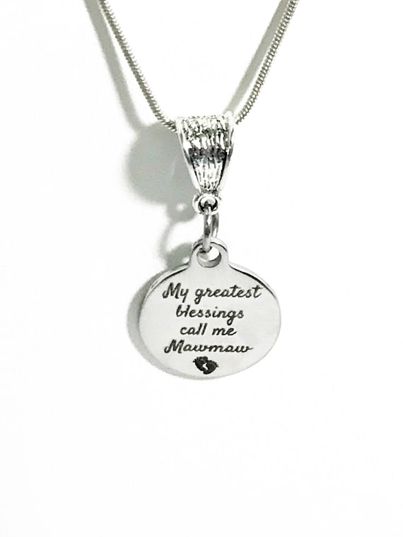 Mawmaw Necklace, My Greatest Blessings Call Me Mawmaw Necklace, Gift For Mawmaw, Grandmother Jewelry Gift, New Grandmother Gift, Mawmaw Gift