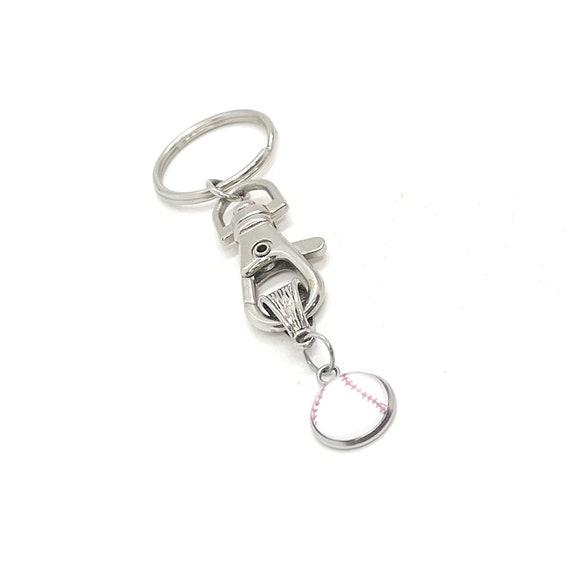 Baseball Charm Keychain, Baseball Gift, Baseball Player Gift, Baseball Mom Gift, Girlfriend Gift, Gift For Mom, Student Athlete Son Gift