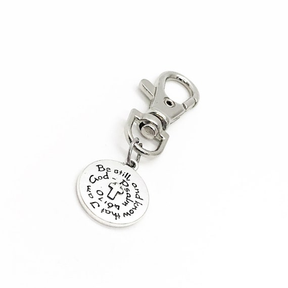 Scripture Gift, Be Still And Know That I Am God Clip On Charm, Psalm 46 10, Cross Charm, Scripture Quote, Scripture Blessing, Blessing Gift