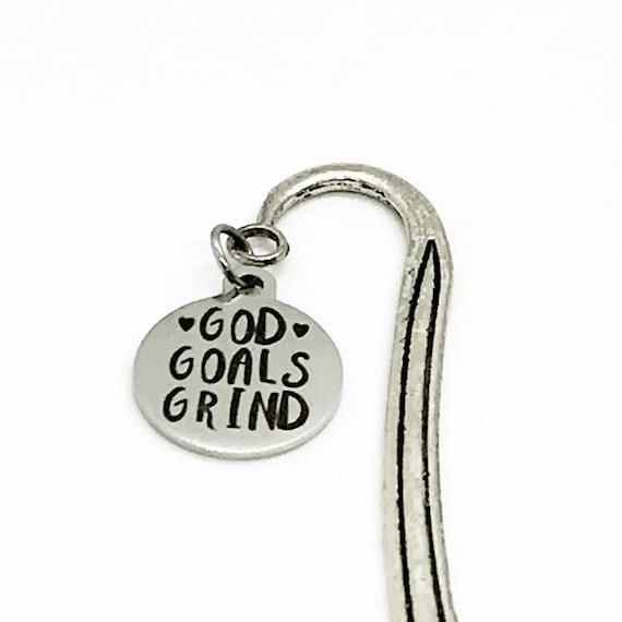 God Goals Grind Bookmark