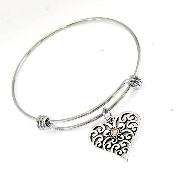 Mustard Seed Jewelry, Mustard Seed Bracelet, Mustard Seed Heart, Heart Jewelry Gift, Daughter Jewelry, Mustard Seed Faith, Christian Jewelry