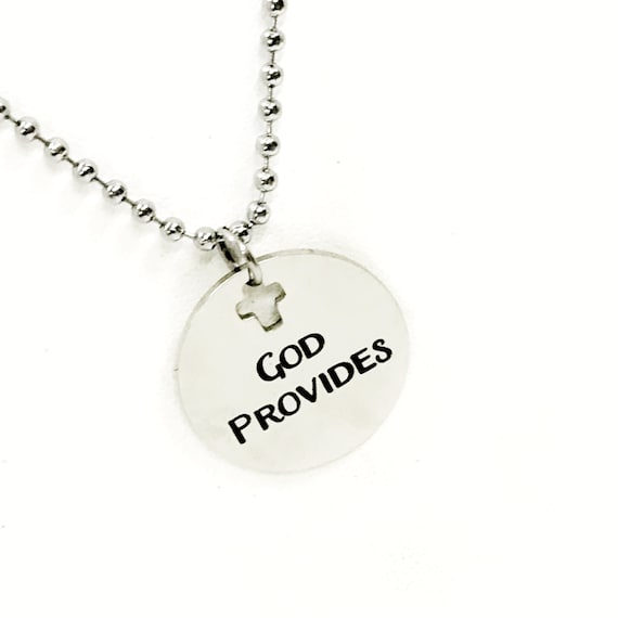 Christian Jewelry, Christian Man Gift, God Provides Necklace, Christian Son Jewelry, Man Jewelry, Man Necklace, Gift For Him, Husband Gift