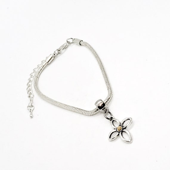 Mustard Seed Charm Bracelet, Mustard Seed Bracelet, Faith Gift For Her, Matthew 17 20 Bracelet, Mustard Seed Cross, European Bracelet