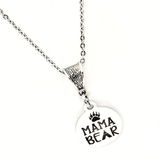 Mama Gift, Mama Bear Necklace, Gift For Mom, New Mom Gift, Wife Jewelry, Mothers Day Gift, Mom Birthday Gift, Gift for Her