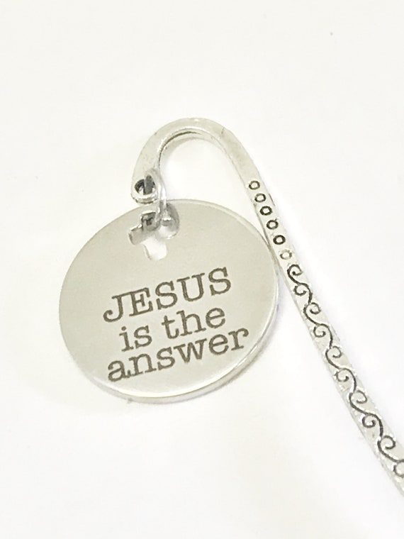 Christian Bookmark, Jesus Is The Answer Bookmark, Bible Bookmark, Christian Gifts, Christian Planner Bookmark, Christian Planner Accessories