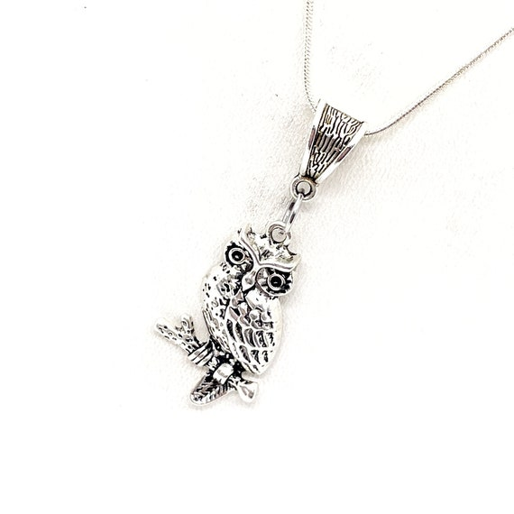 Owl Necklace, Owl Lover Gift, Smart Friend Gift, Smarty, Owl Pendant, Owl Charm, Gift For Her, Graduation Gift, Going To College Gift