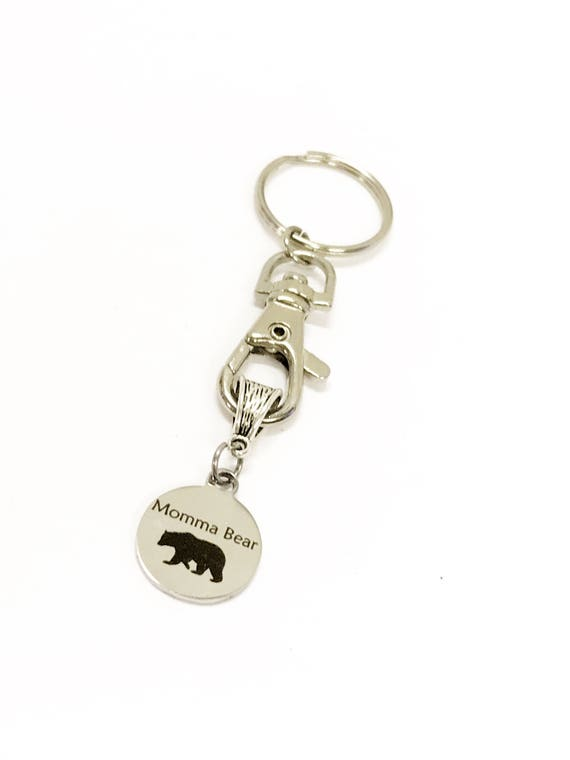Momma Bear Gifts, Mama Bear Gifts, Momma Bear Keychain, New Car Gift, New House Gift, New Mom Gift For Her, Keychain Gift For Mom, Mama Gift