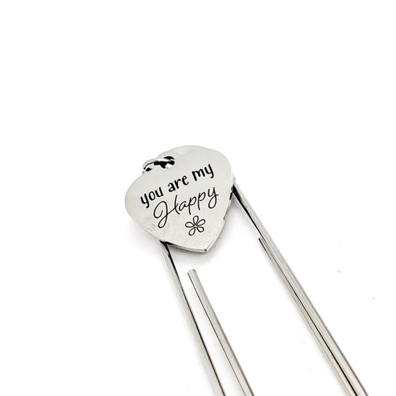 Love Gift, You Are My Happy Bookmark, Wife Bookmark, Daughter Bookmark, Love Bookmark, Charm Bookmark, Paperclip Bookmark, Planner Gift