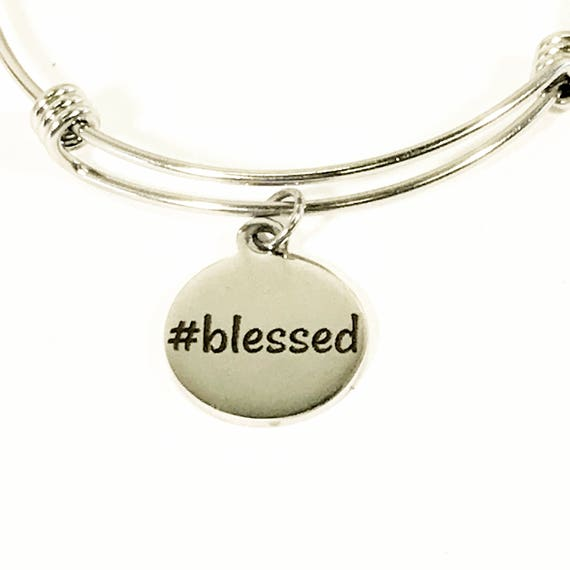Blessed Bracelet, #Blessed Jewelry, I Am Blessed, Christian Jewelry Gift, Christian Bracelet, Religious Bracelet, Spiritual Gift,  Stacking