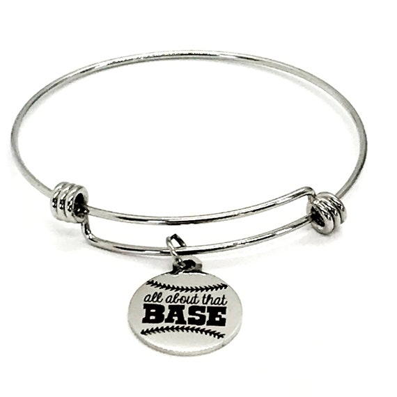 Baseball Mom Gift, All About That Base Bracelet, Baseball Mom Bracelet, Team Mom Gift, Baseball Mom Mother's Day Gift, Baseball Mom Jewelry