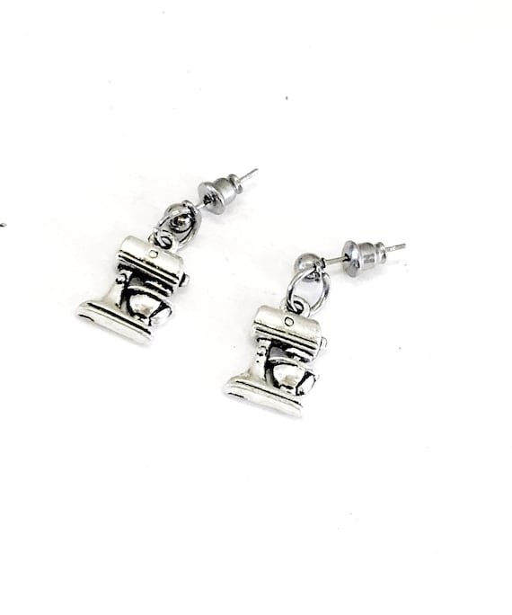 Cook Gifts, Mixer Earrings, Cook Earrings, Baker Gifts, Baker Earrings, Mixer Charms, Gifts For Her, Love To Cook, Love To Bake, Baking Gift