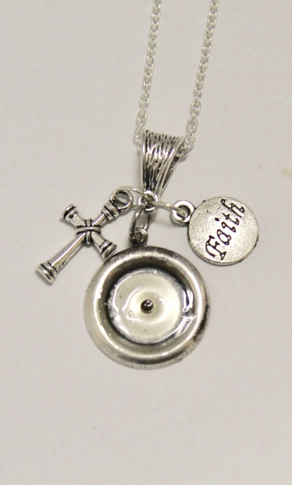 Mustard Seed Pendant on Silver Chain, Faith, Cross, Luke 17:6 Bible Verse Jewelry, Gift For Her, Inspirational, Sympathy Gift