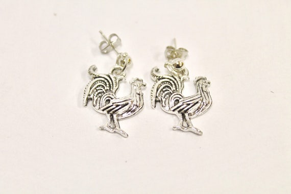 Chicken Earrings, Fun and Quirky Earrings, Chicken Jewelry, Gift For Her, Chicken Owner Gift, Easter Gift, Girlfriend Gift, Wife Gift