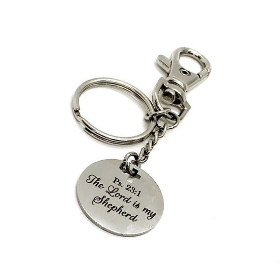 Scripture Gifts, The Lord Is My Shepherd Keychain, Psalm 23 1, Faith Gifts, Scripture Quote, Bible Verse Gift, Christian Gifts, Baptism Gift