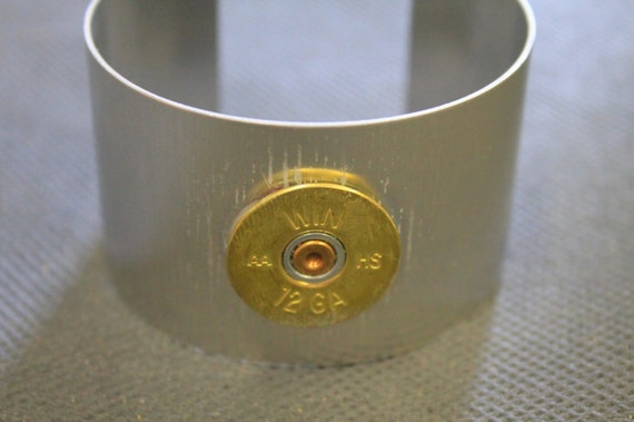 12 Gauge Shotgun Shell Aluminum Cuff Bracelet; Shotgun Shell Jewelry; 12g Shotgun Shell; Gift For Her; Gift For Him; Shooting Sports