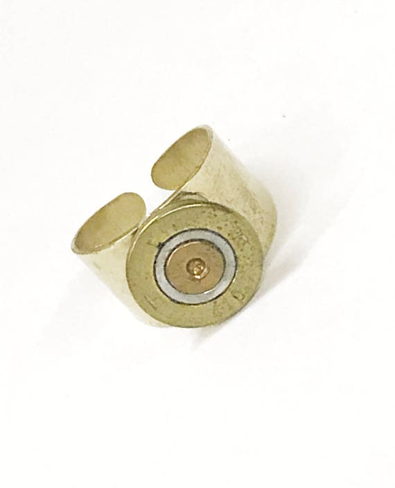 Shotgun Shell Jewelry, 410 Bore Shotgun Shell Head Brass Ring, Shotgun Shell Ring, Shooting Sports Ring, Shooting Sports Gift Award Ring