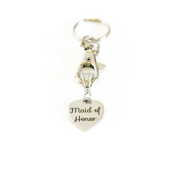 Maid Of Honor Keychain Gift, Gift for Maid Of Honor, MOH Proposal, MOH Thank You Gift, Bridesmaid Gifts, Wedding Party Gift For Her