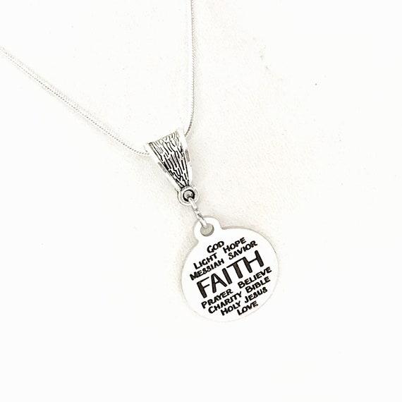 Faith Jewelry, Faith Words Necklace, Faith Gifts, Gift For Daughter, Christian Gift, Christian Jewelry, Gift For Her, Christian Words