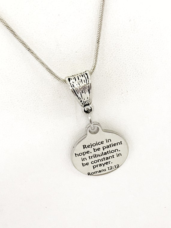Rejoice In Hope Necklace, Christian Necklace, Scripture Necklace, Scripture Gifts, Christian Jewelry, Christian Gifts For Her, Daughter Gift