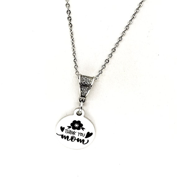 Mom Gift, Thank You Mom Necklace, Gift For Mom, Mothers Day Gift, Mom Birthday Gift, New Mom Gift,Mother Of the Bride , Mother of the Groom