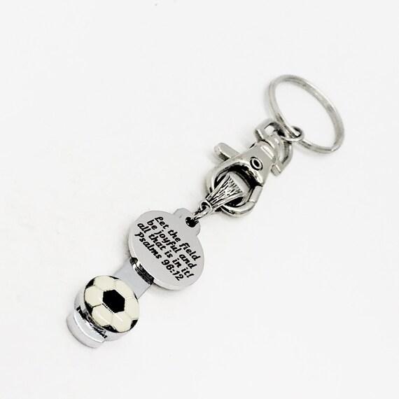 Soccer Bible Verse Keychain, Psalms 29 12 Bible Verse Gift, Soccer Mom Gift, Gift For Her, Soccer Player Gift, Daughter Gift, Granddaughter