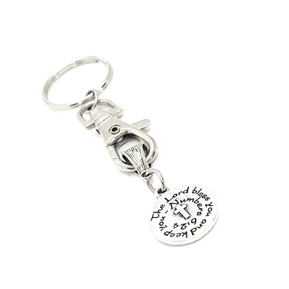 Scripture Gift, The Lord Bless You And Keep You Keychain, Numbers 6 24 Scripture Quote, Bible Verse Gifts, Faith Gift, Blessing Gift, A268