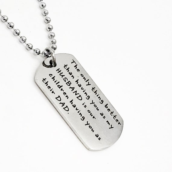 Husband Gift, Husband And Dad Necklace, Pregnancy Announcement, Gift For Husband, New Dad Gift, Gift For New Dad