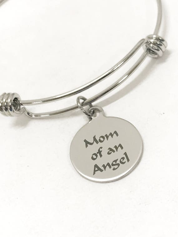 Miscarriage Memorial Gift, Mom Of An Angel Bracelet, Miscarriage Bracelet, Child Loss Gift, Angel Mom Gift, Child Loss Memorial Gift For Her