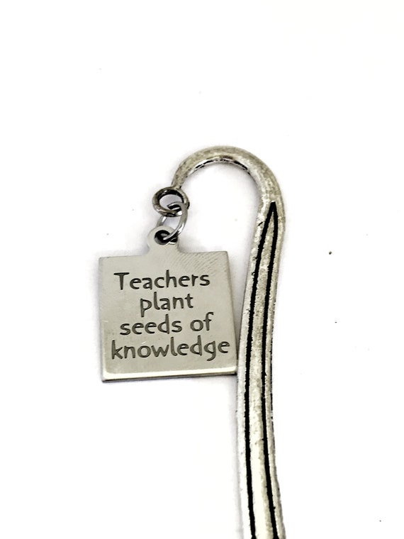 Bookmark Charm, Teachers Plant Seeds Of Knowledge Bookmark, Planner Charm Accessories, Hook Bookmark, Back To School Teacher Planner Gift
