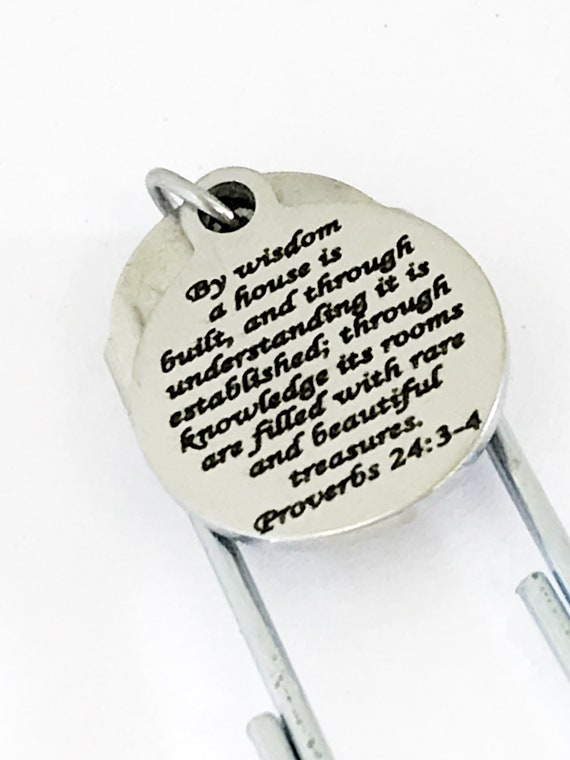 Bible Bookmark, Scripture Bookmark, Bible Study Bookmark Gift, Planner Accessories, Planner Charm, Bible Verse Gifts, Scripture Gifts