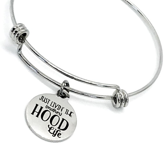 Mom Gift, Just Livin' The (Mother)Hood Life Bracelet, Motherhood Gift, Gift For Mom, New Mom Braclet, Gift From Kids, Mothers Day Gift