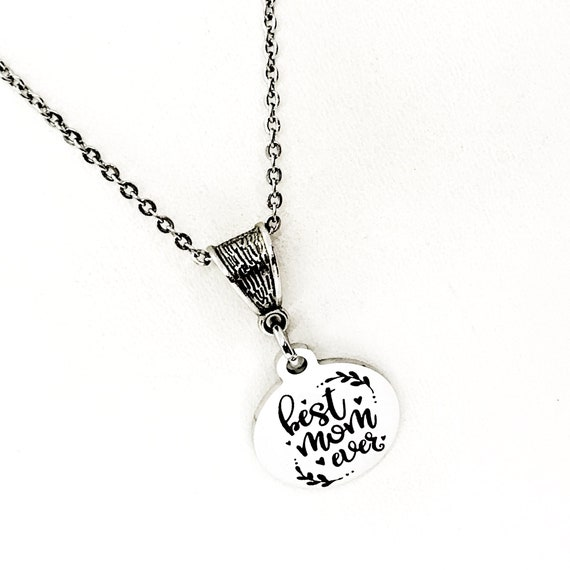 Mom Gift, Best Mom Ever Necklace, Gift For Mom, Mother's Day Gift, Mom Birthday Gift, New Mom Gift, Gift For Her, Wife Gift